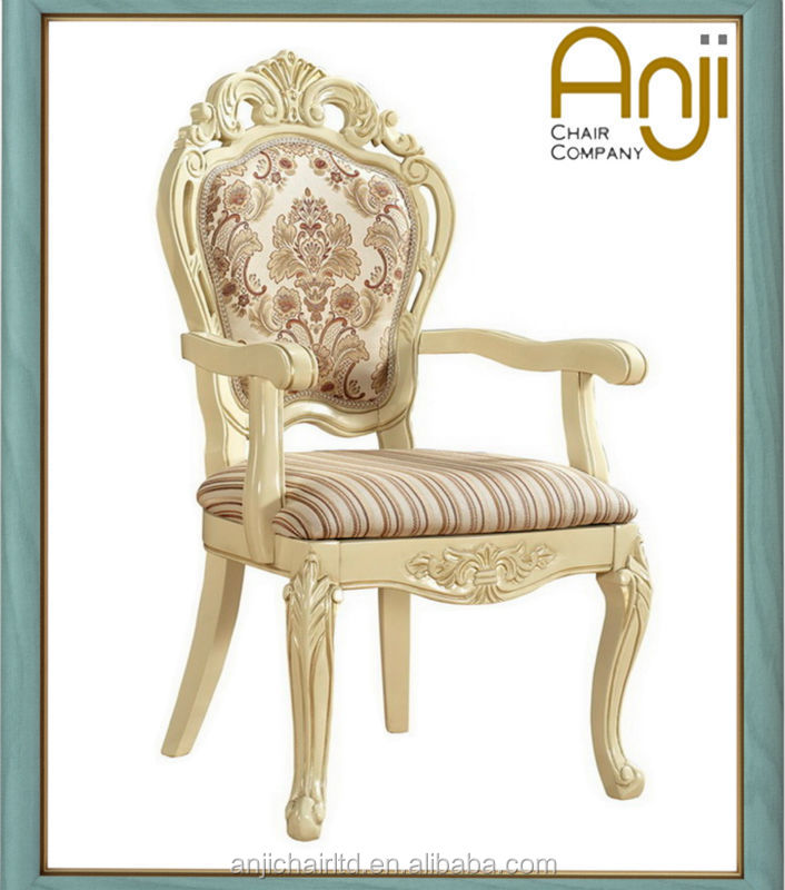 Luxury wooden fabric dining chair for hotel and home use
