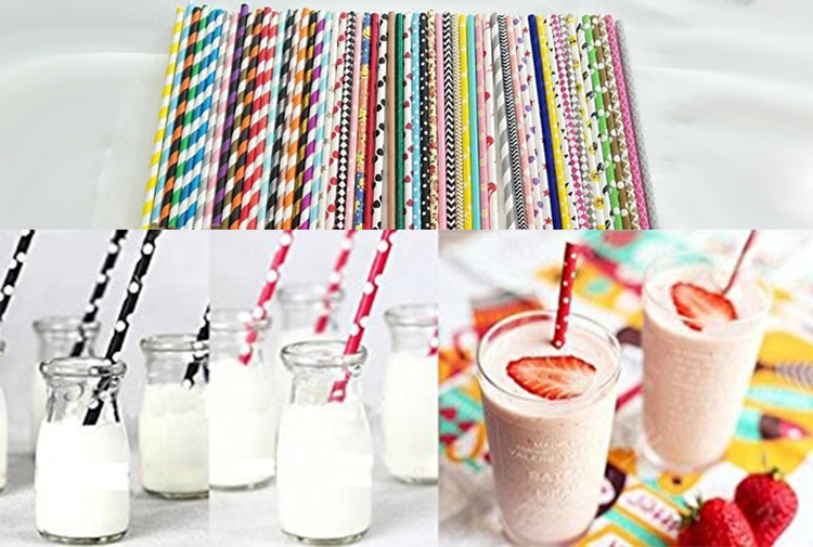 Hot koop bubble thee milkshake boba papier rietjes