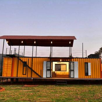 Customized Wood Structure Construction Container House Design Converted  Homes Made From Shipping Containers With Bathroom - Buy Container House
