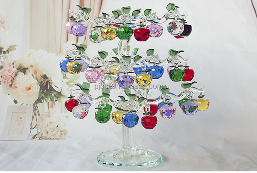 The new crystal apple trees Peace lucky tree Style fashion home furnishing articles craft gift money