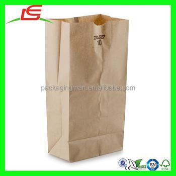N835 Unique Lunch Paper Bag Machine Made Plain Brown Kraft Bags