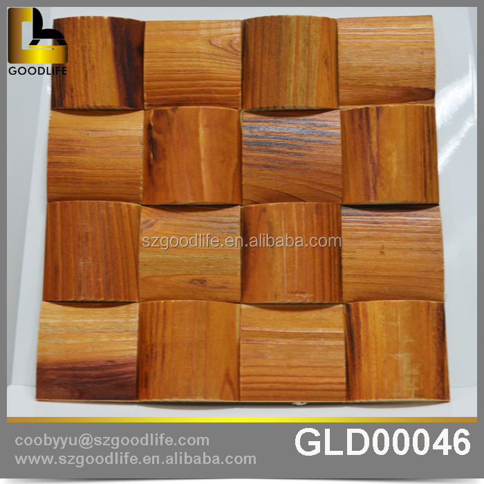 Eco-friendly Antique Solid teak wood Mosaic tile, installing mosaic wall  tile - Eco-friendly Antique Solid Teak Wood Mosaic Tile,Installing Mosaic
