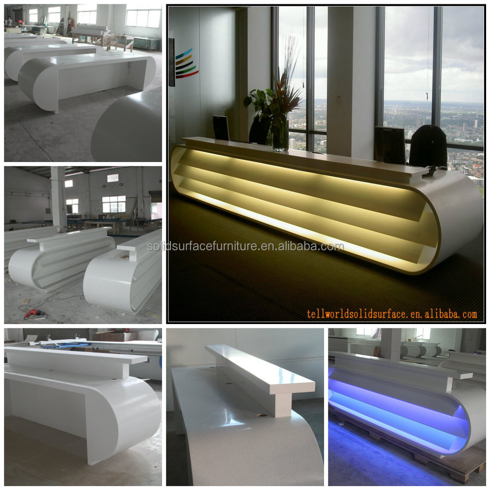 factory price directly led light hotel reception counter with high quality - Hotel Front Desk Counter Design