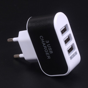 Portable EU US 3 Ports USB Smart Phone car Charger Travel Wall Chargers for mobile phone