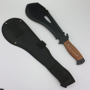 outdoor and camping, 420 blade wooden handle, Sturdy super multi function machete