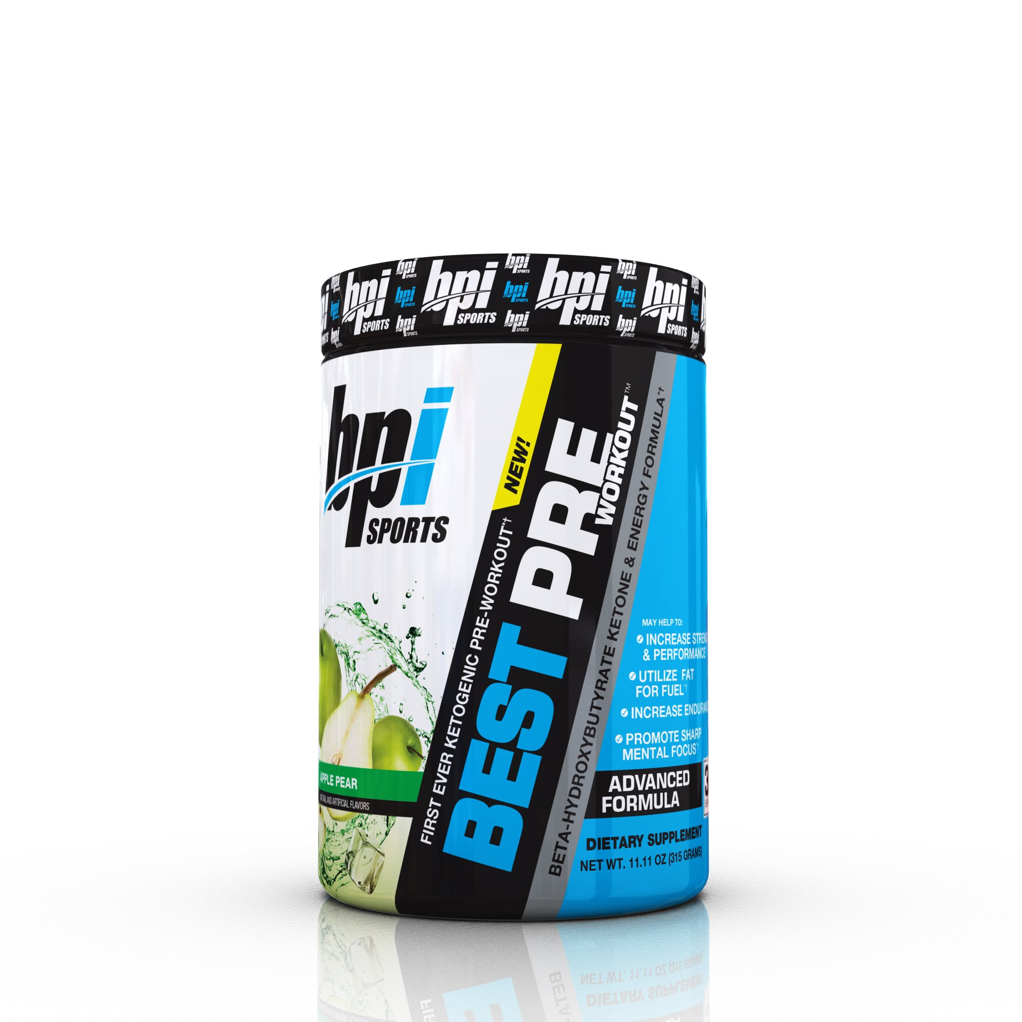 BPI Sports First Ever Ketogenic Pre-Workout Supplement, Apple Pear, 11.11 Ounce