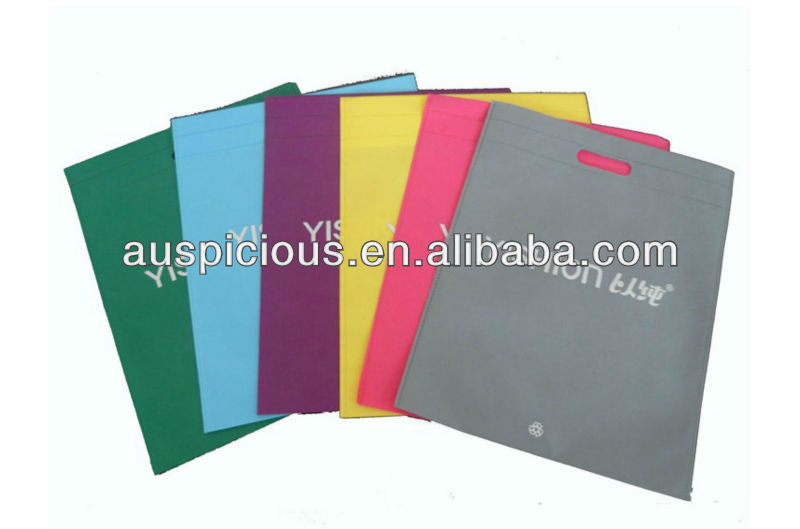 Hot selling printed non woven die cut bags for shopping