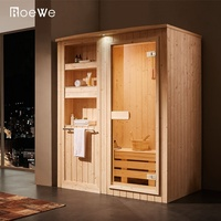 Traditional design sauna cabin, 4.5kw wooden dry sauna box, traditional style dry steam room