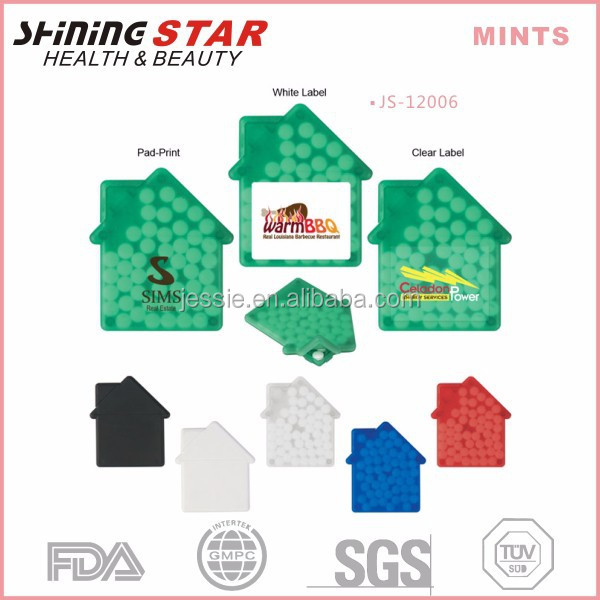 JS-12006 promotional breath freshener 50mints house shape peppermints