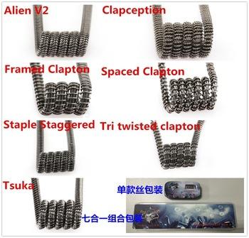 Rda Atomizer Prebuildprebuilt Coil Flat Twisted Wire Fused Clapton Coils  Hive Premade Wire Alien Tiger - Buy Clapton Fused Twisted,Prebuilt Clapton