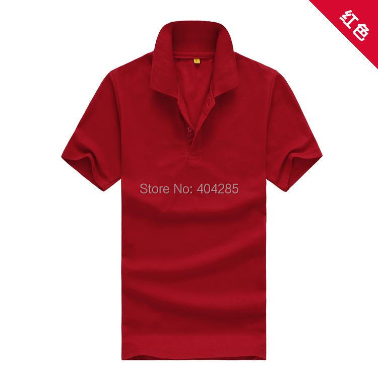 Fashion Men's Clothing Solid Classic Polo Shirts Casual Tops Tees 15 colors