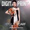 Amazing digital printing polyester scarf, Bright vivid colors, Focus on the high-end market