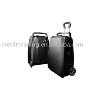 PP beauty case trolley clear plastic