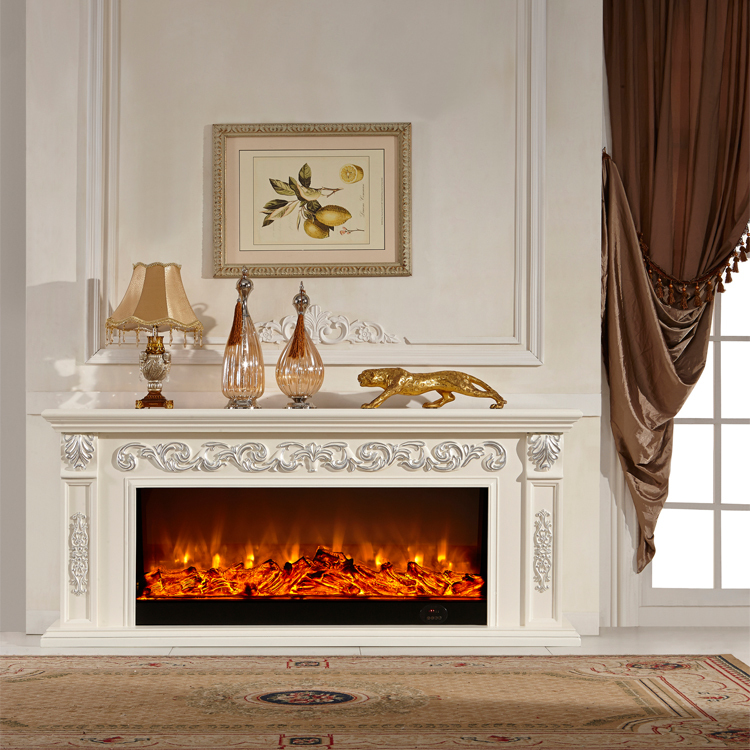 Wooden Frame For Decorative Electric Fireplace Tv Stand ...