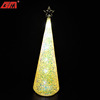 Wholesale cone shaped new colorful glass decorative christmas tree lights with star