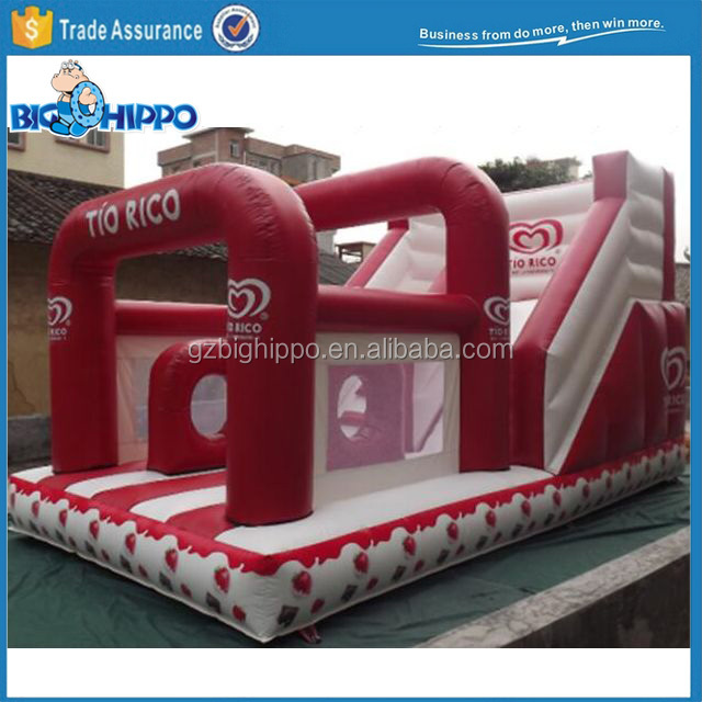2017 Inflatable Strawberry Slide with Arch Door