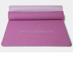 professional wholesale custom organic material yoga mat with carry strap