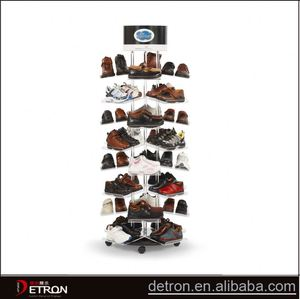 Store acrylic shoes rotary display stand