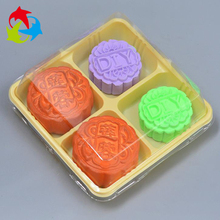 Cheap compartment disposable food tray for mooncake plastic tray