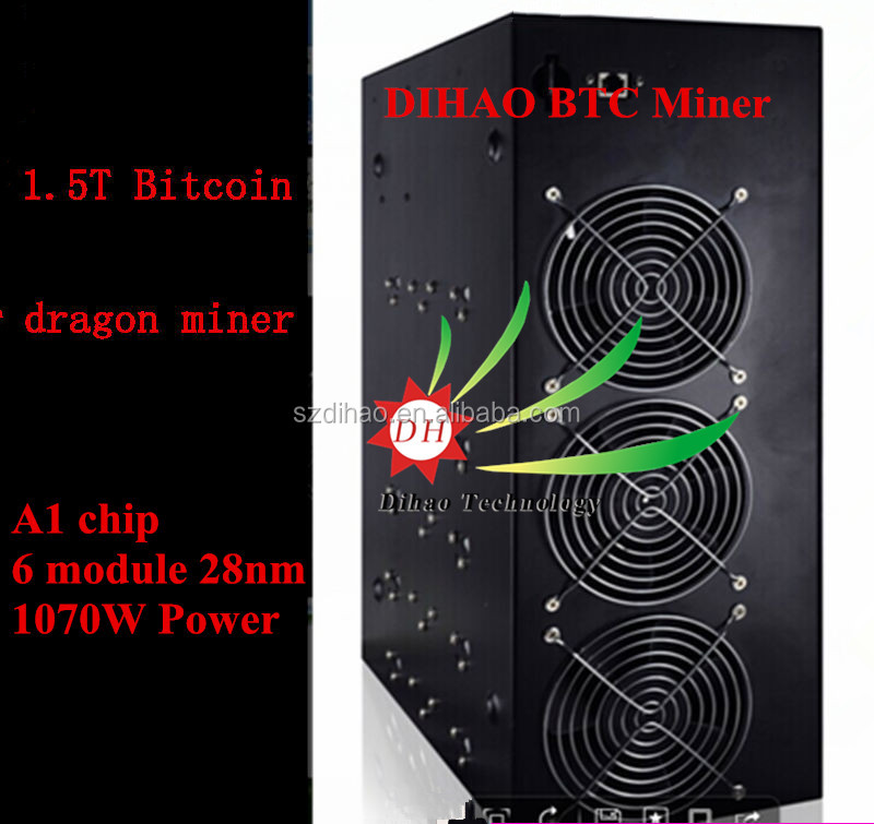 DIHAO Dragon miner 1.5TH A1 1.5TH/s Bitcoin Mining Rig DRAGON Miner using A1 28nm ASIC Chips 1.5T