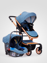 EN1888 European standard cotton fabric baby stroller 3 in 1 baby pram with car seat