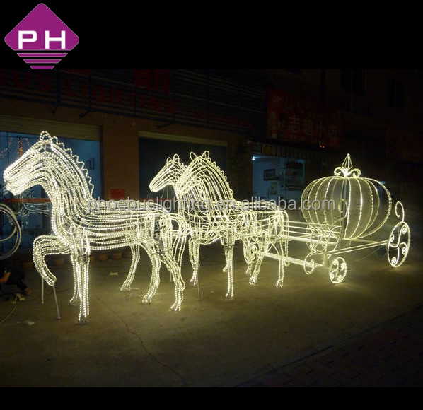 Outdoor Decoration Ip44 Reindeer With Sleigh Led Christmas Lights