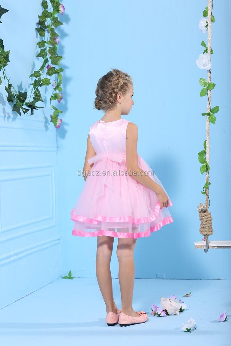 Children Beach Wedding Flower Girl Dresses Pink Dresses For Girls