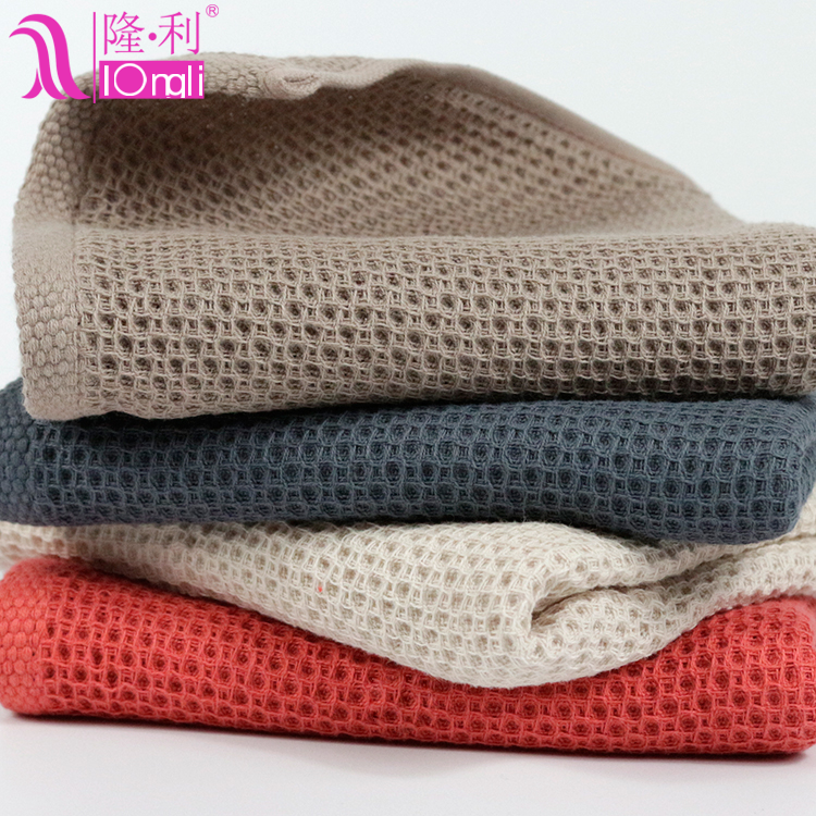 Japanese-style honeycomb modeling 40s combed cotton towel unisex face towel