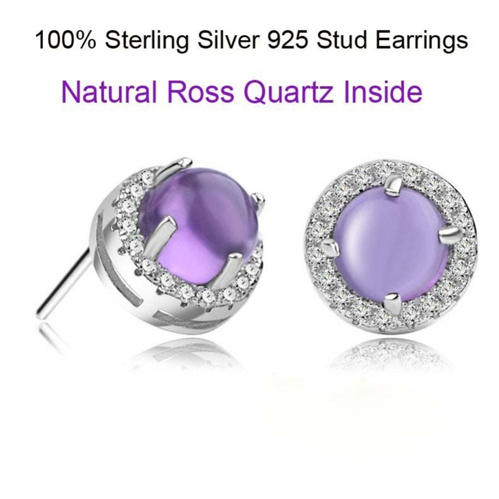 69a732c65b05 925 pendientes de plata esterlina pavimentar púrpura diamante pendientes  joyas joyería de moda de las mujeres