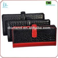 Branded design real crocodile leather wallet