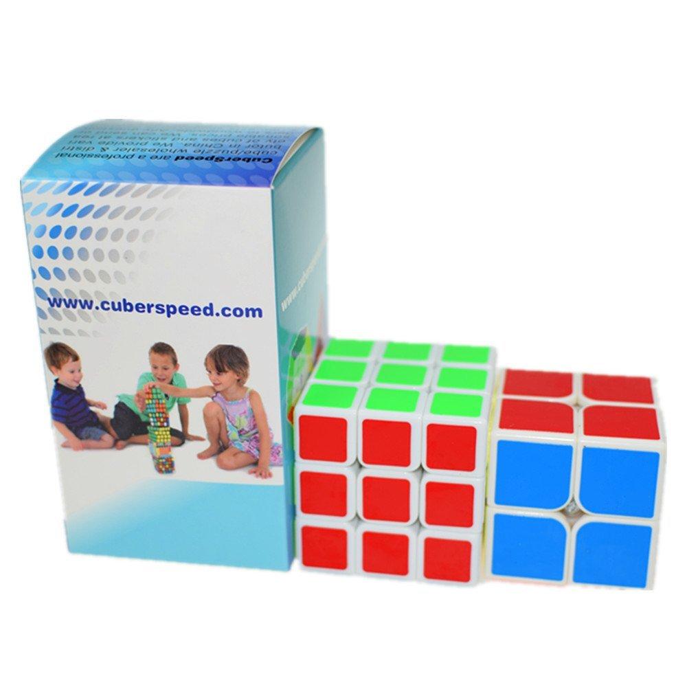 CuberSpeed Speedcubing Bundle Moyu 2x2 White & Shengshou 3x3 White Yongjun ( YJ ) Guanpo 2x2 & Shengshou Legend Magic cube