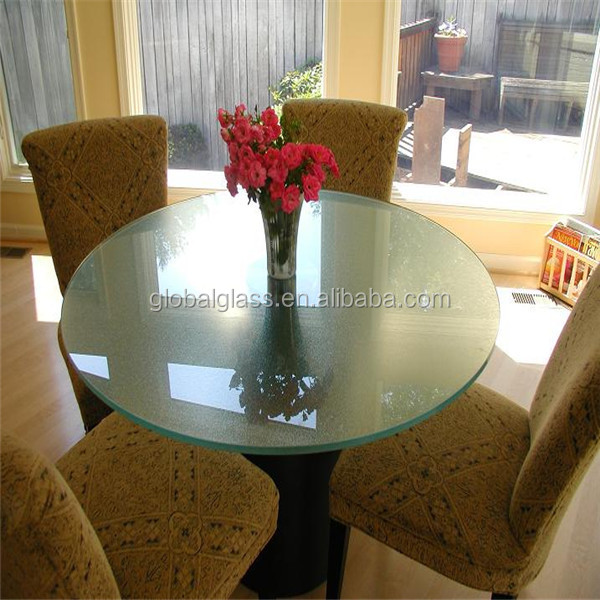 Excellence quality 8mm 10mm 12mm dining tables top glass