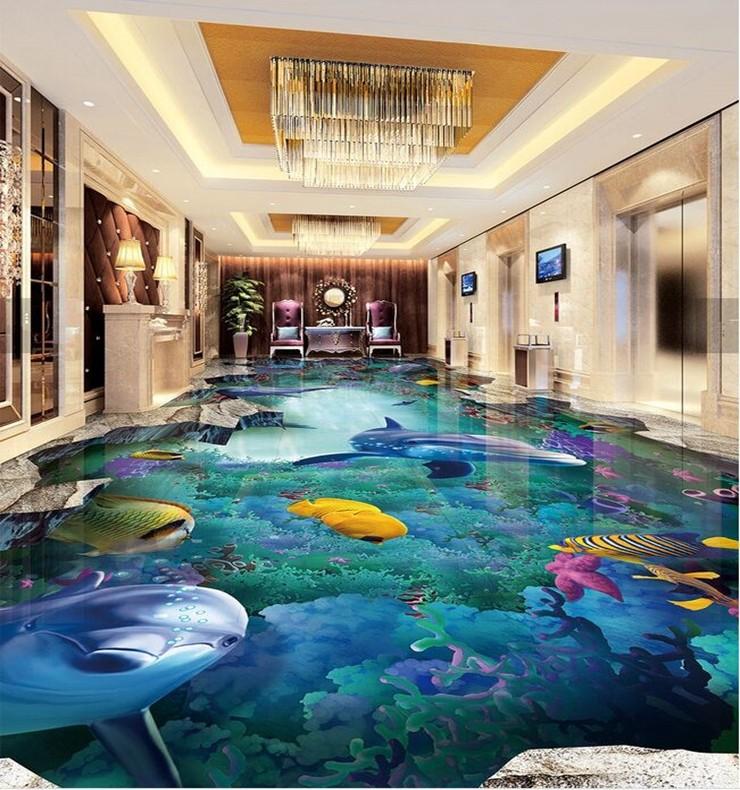 Epoxy Flooring Kerala: Micro Crystal Vivid Sea World Design Kerala 3d Floor Tiles