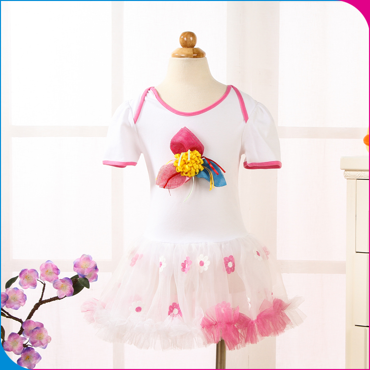 Cotton Girl 2017 Baby Romper dress Cutting New Style Designs Girls Modern Child Summer Party Nice Frill Dress For Baby Girl