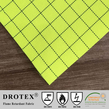 300D polyester flame retardant anti-static water repellent fabric