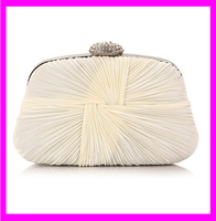 KD5295 small lady purse women clutch bags 2015 satin silk hand beaded evening bag