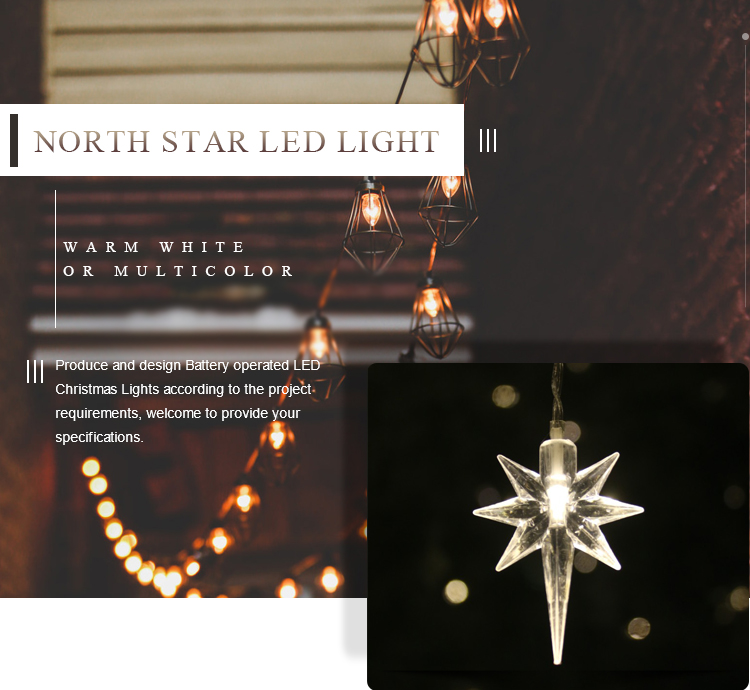 North Star Shaped Led Fairy String