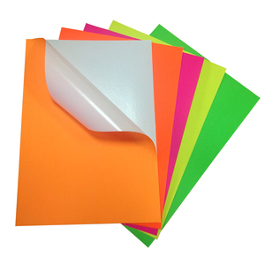 Hot Products Multiple Color Self Adhesive Fluorescent Sticker Paper