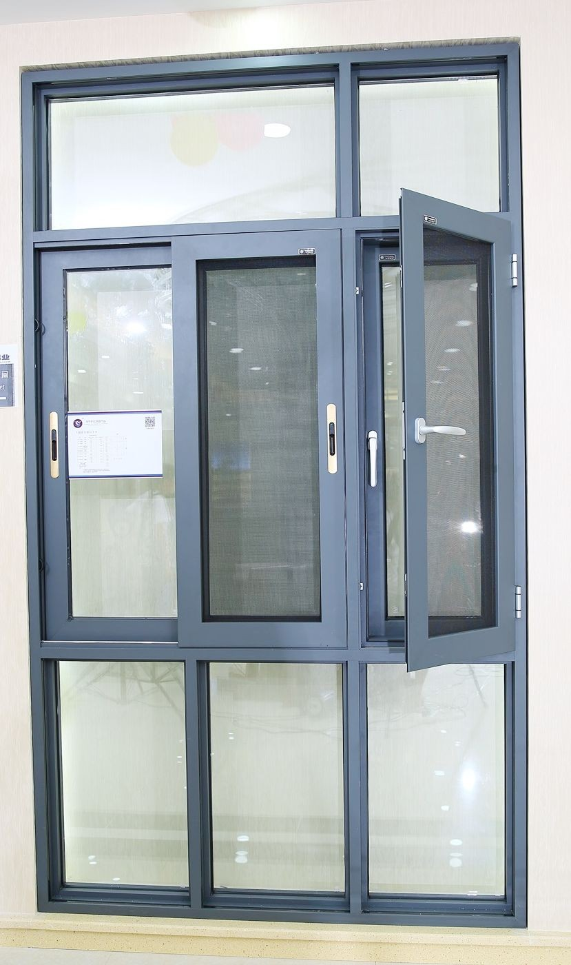 Casement Window Screens : Lingyin series aluminium swing windows combine