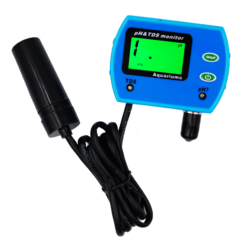 Online LED Digital 2 in 1 PH meter Multi-parameter Water Quality Digital Monitor For Aquariums,Ponds,Agriculture and more