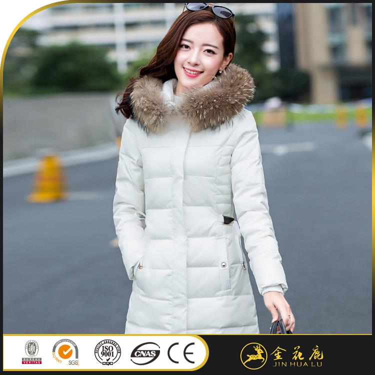 Good quality down feather woman White down coat ratings