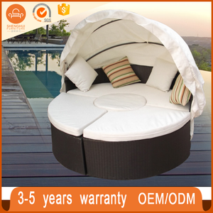 Leisure Ratten Outdoor Furniture Patio Wicker Sunbed Rattan Bali Day Bed