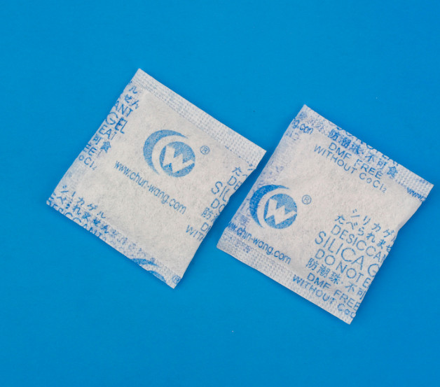 1-1000g ROHS / DMF free sample custom logo 2g silica gel desiccant bag with non-woven paper