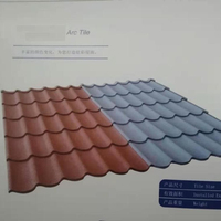 Corrugated Iron Metal Sheet Stone Coated Steel Roof Tile