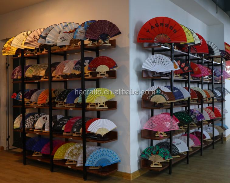 Grote Regenboog hand fan Chinese traditionele bamboe Kongfu Fan bamboe hand ventilator op verkoop