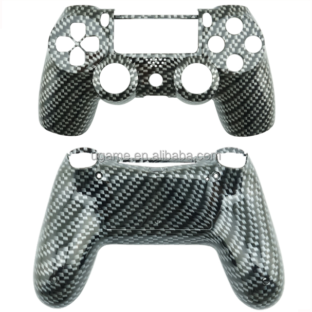Black Carbon Fiber For Playstation 4 Shell With Full Set Buttons In Store Drop Shipping