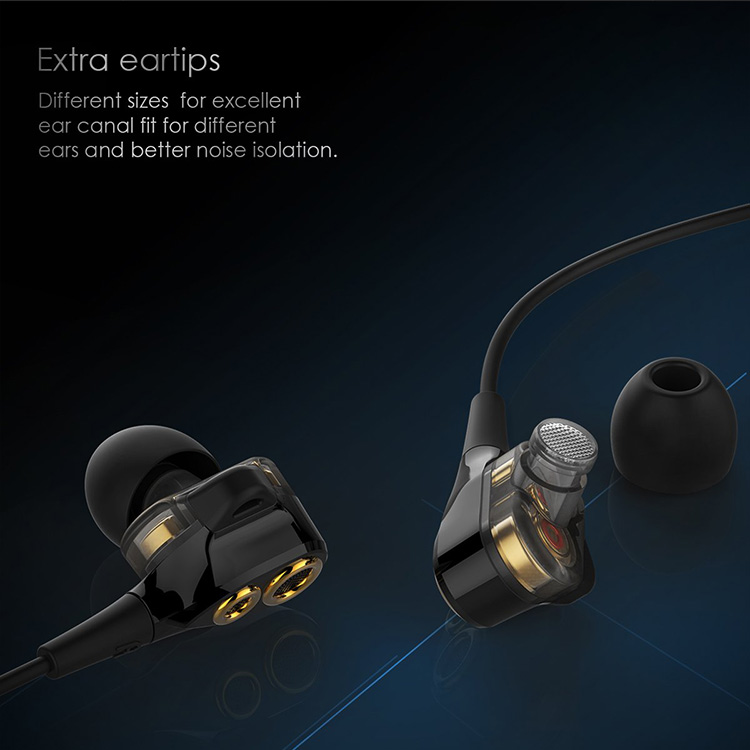 Uiisii T8 Hi Res Dual Driver Bass Wired Earphones Headphones for Music