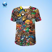 Big World OEM 100% polyester man 3D sublimation t shirt