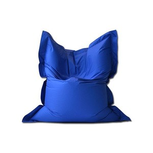 Polyester royal blue living room sitting fireproof bean bag tv sofa chair