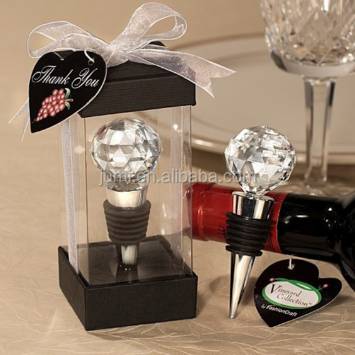 Crystal Ball Red Wine Bottle Stopper Wedding/Bridal Party Favors Gifts